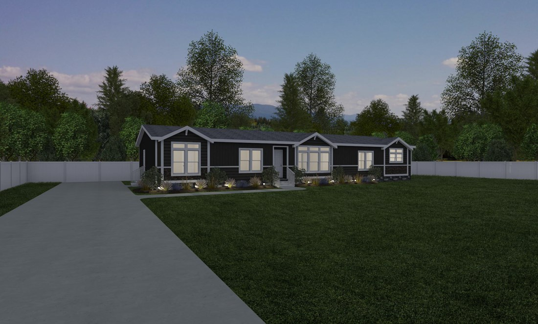 The THE GREENSBORO Exterior. This Manufactured Mobile Home features 4 bedrooms and 2 baths.