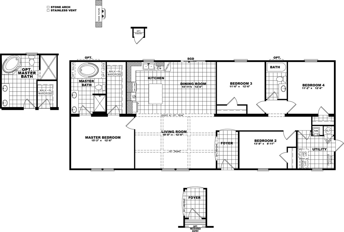 The THE SUPER FRIO 28 Floor Plan