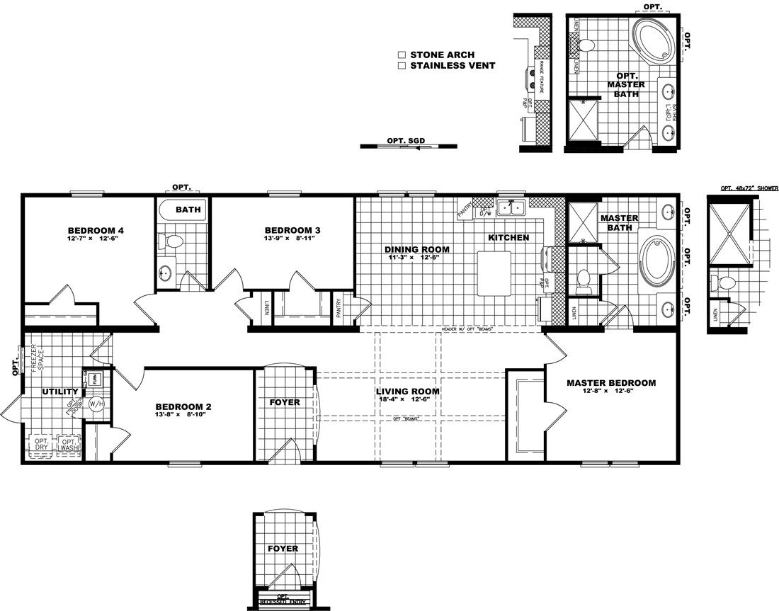 The THE SUPER HOUSTON 28 Floor Plan
