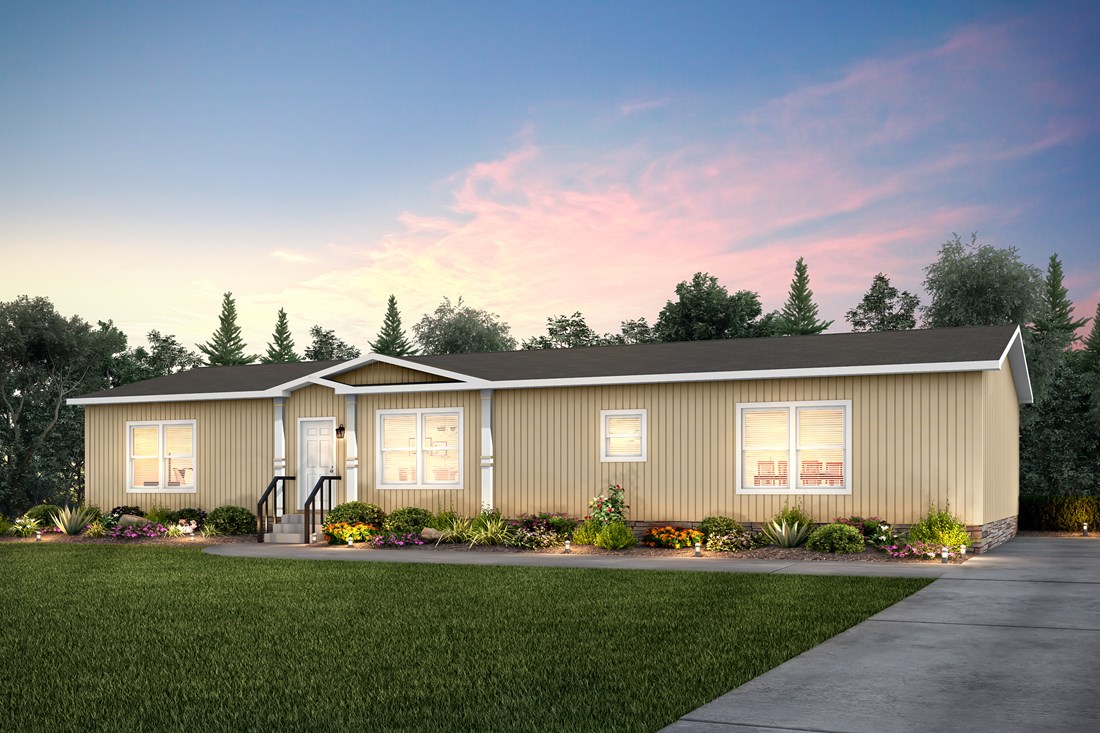 The THE NILE Exterior. This Manufactured Mobile Home features 3 bedrooms and 2 baths.