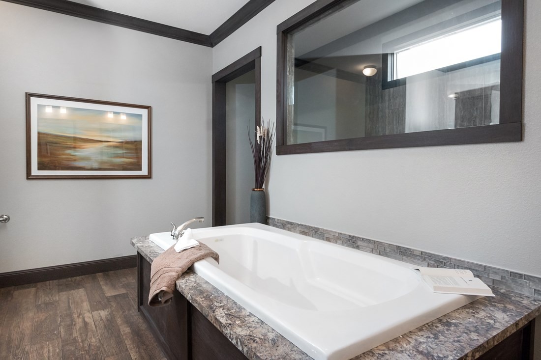 The THE NILE Master Bathroom. This Manufactured Mobile Home features 3 bedrooms and 2 baths.