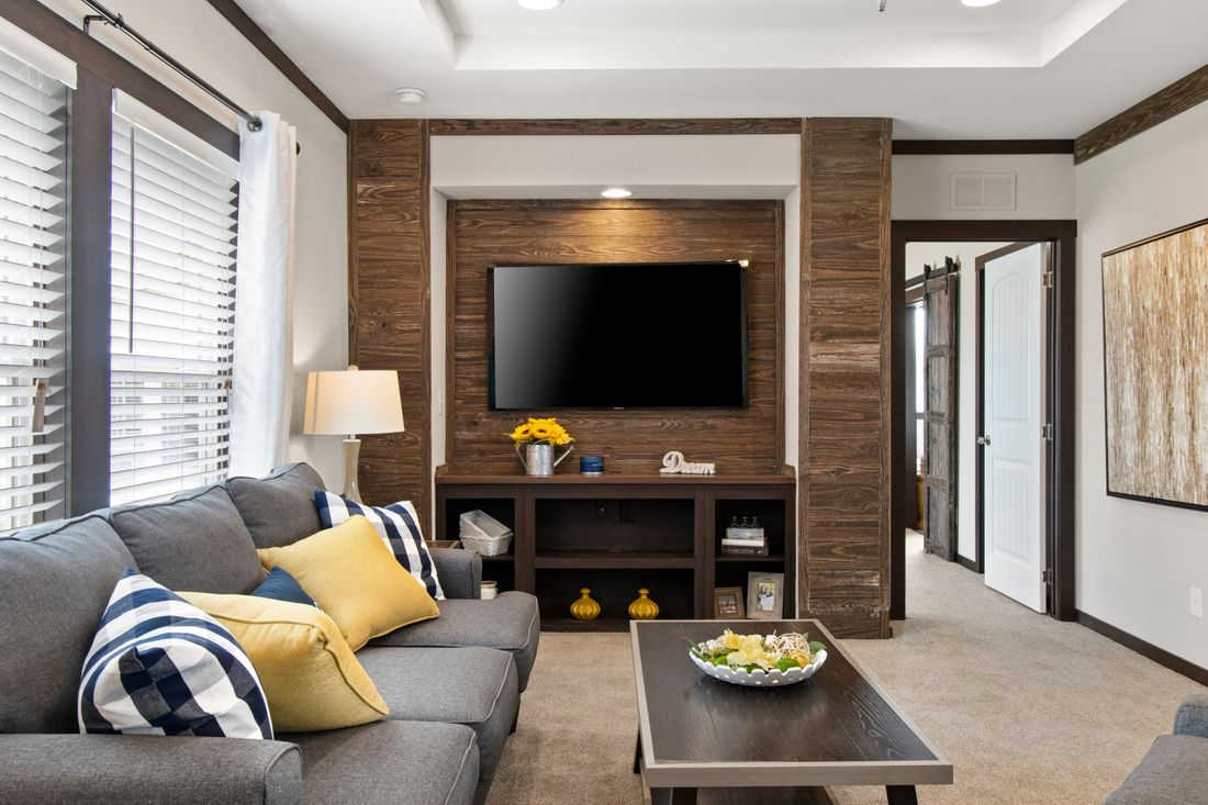 The ANNIVERSARY 3.0 Living Room. This Manufactured Mobile Home features 3 bedrooms and 2 baths.
