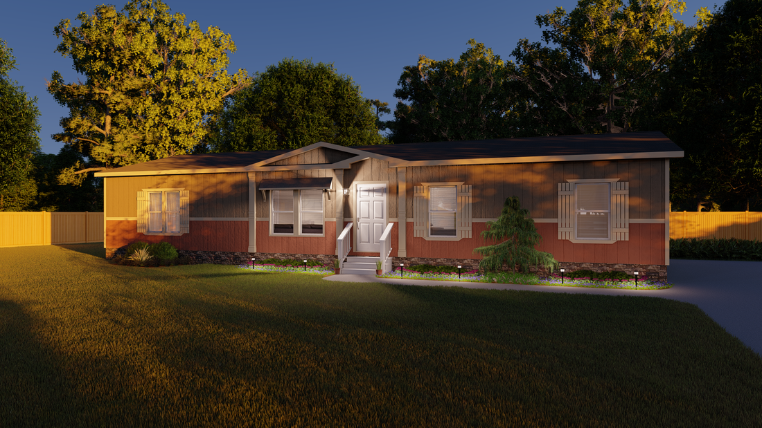 The ANNIVERSARY 3.0 Exterior. This Manufactured Mobile Home features 3 bedrooms and 2 baths.