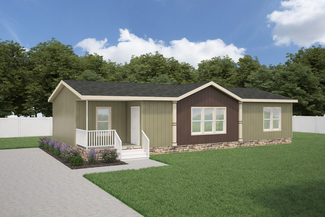 The THE LEXINGTON 28 Exterior. This Manufactured Mobile Home features 3 bedrooms and 2 baths.