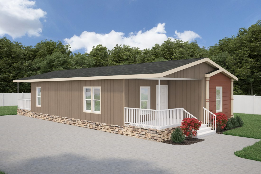 The THE WATSON 28 Exterior. This Manufactured Mobile Home features 2 bedrooms and 2 baths.