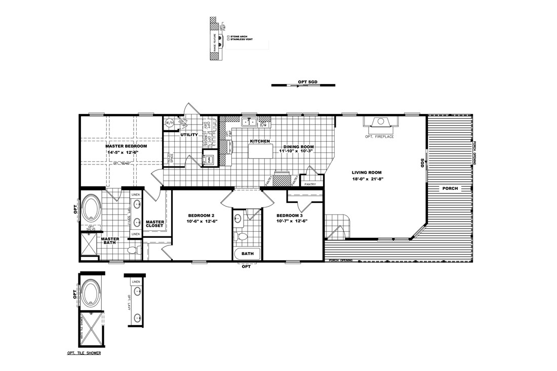 The THE STEWART 28 Floor Plan
