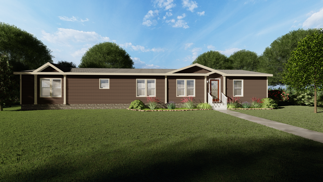 The THE JEFFERSON 28 Exterior. This Manufactured Mobile Home features 4 bedrooms and 2 baths.