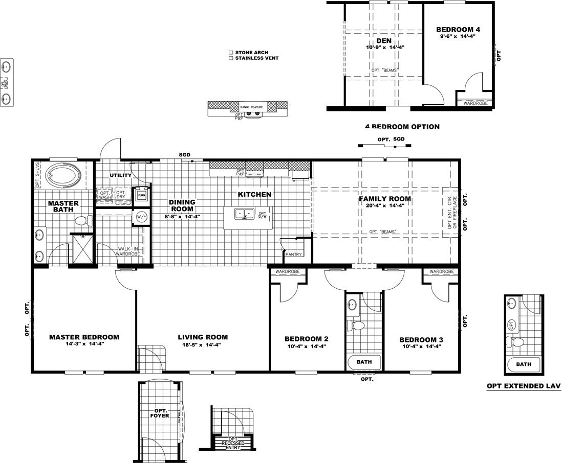 The THE DINO 32 Floor Plan