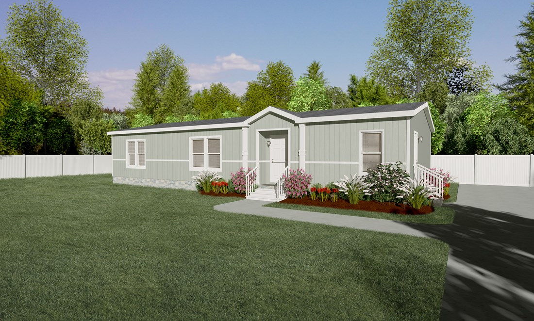 The THE STRETCH FRIO 28 Exterior. This Manufactured Mobile Home features 3 bedrooms and 2 baths.