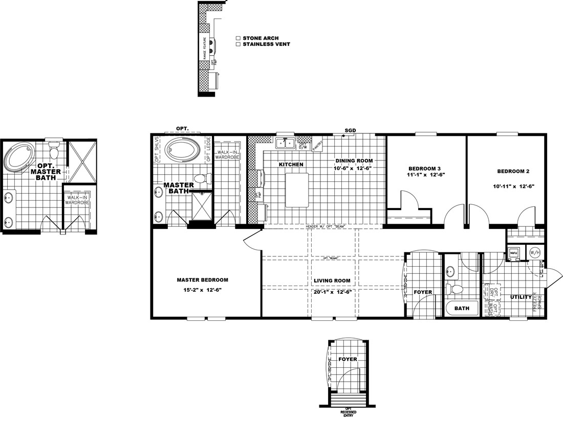 The THE STRETCH FRIO 28 Floor Plan