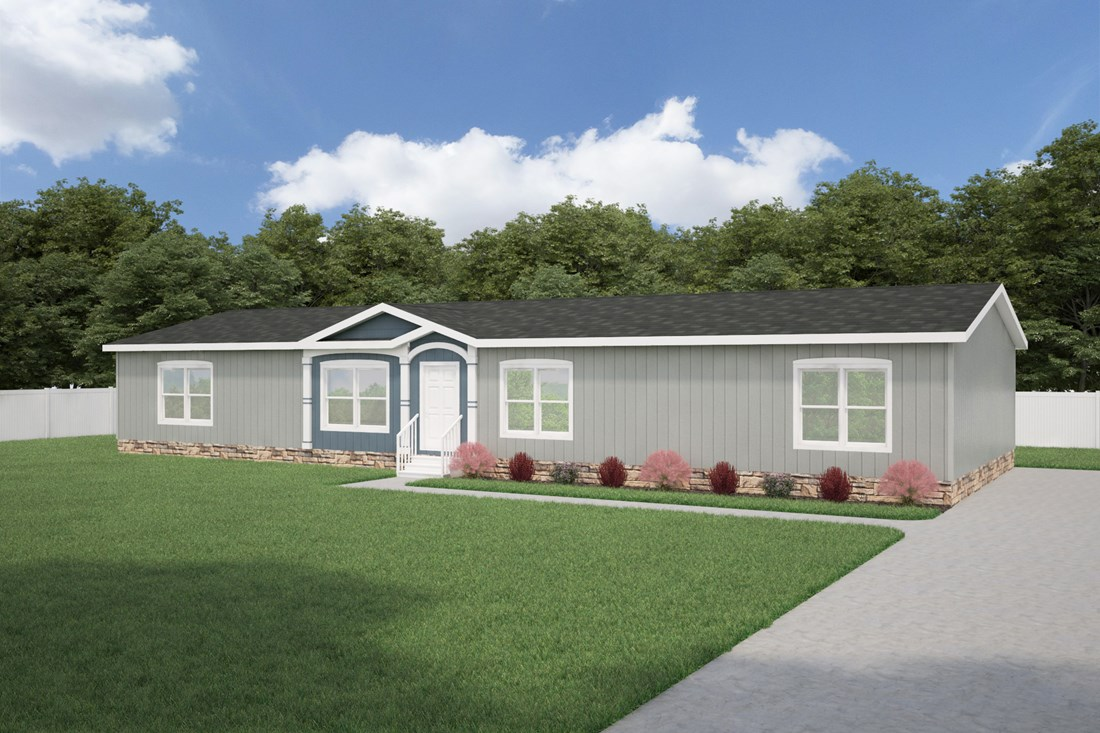 The THE MISSISSIPPI 28 Exterior. This Manufactured Mobile Home features 4 bedrooms and 2 baths.