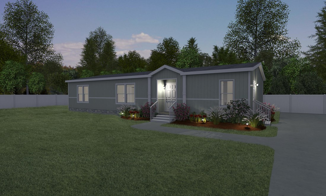 The THE STRETCH FRIO 32 Exterior. This Manufactured Mobile Home features 3 bedrooms and 2 baths.