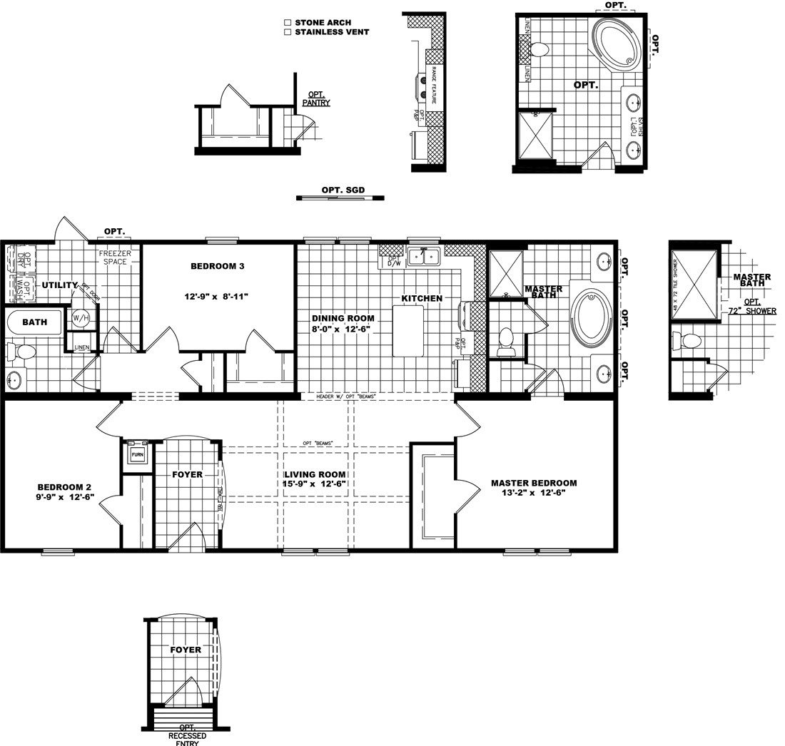 The THE HOUSTON 28 Floor Plan