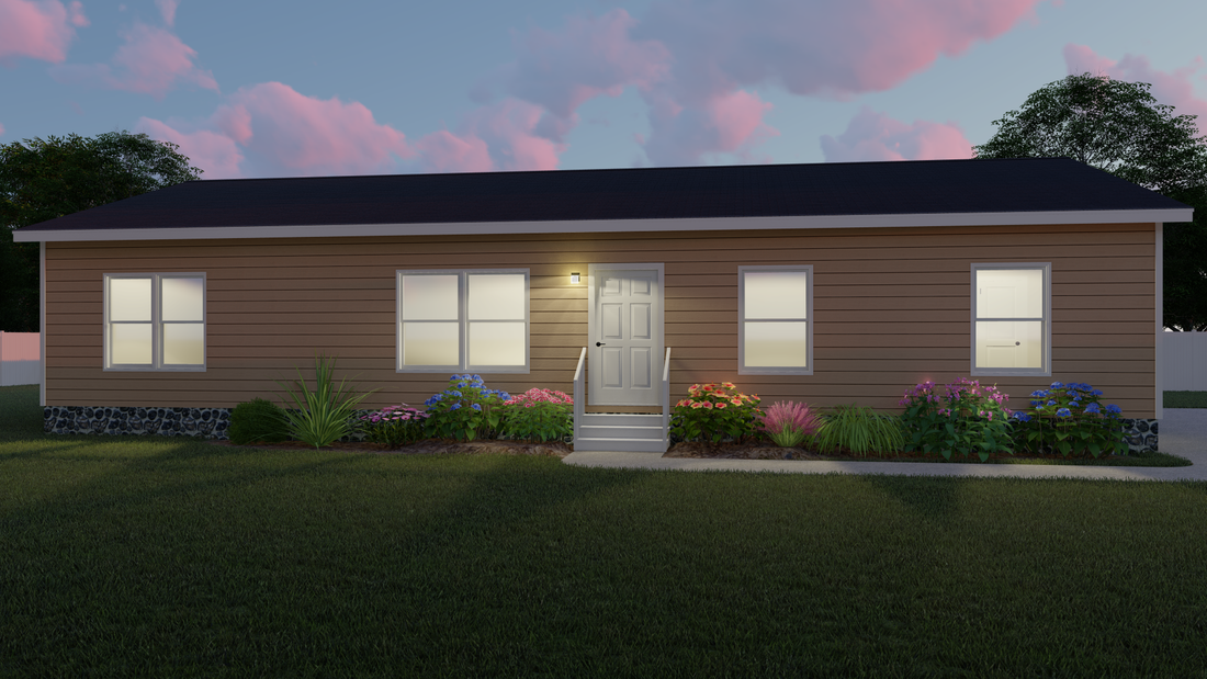 The THE BIRMINGHAM Exterior. This Manufactured Mobile Home features 3 bedrooms and 2 baths.