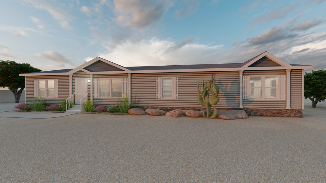 The THE VICKSBURG Exterior. This Manufactured Mobile Home features 3 bedrooms and 2 baths.